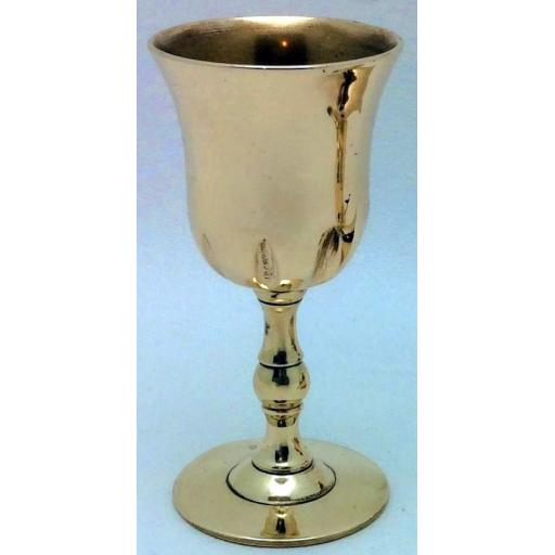 2-part brass travelling or pocket chalice, possibly Scottish c1750-90