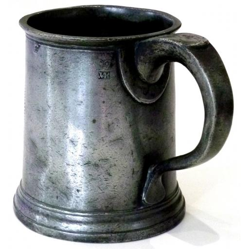 Pint pewter mug by Edmund Grove of London c1773-77