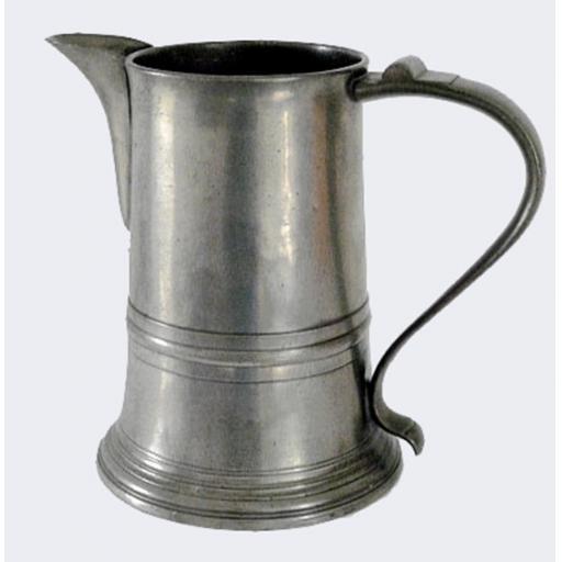 ½-gallon lidless pewter ale jug by Henry & Richard Joseph, London c1785-92