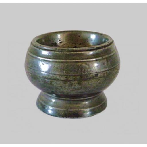 Scarce pewter globular salt by William Hogg, Newcastle 1780-1815